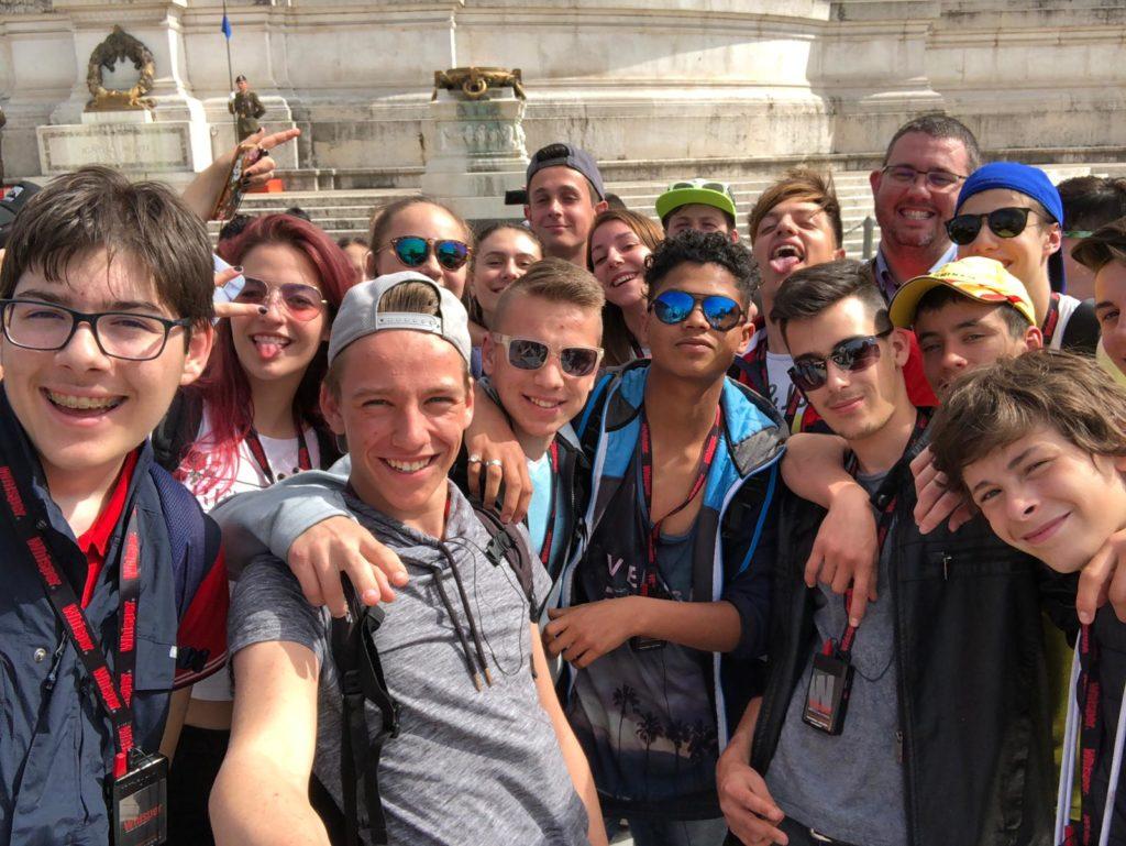 Selfie all'Altare della Patria