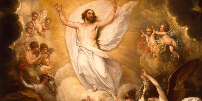 Cristo Risorto ascende al Cielo
