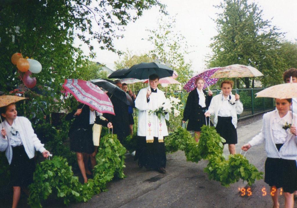 Don Witold Kopeć il giorno della sua prima Messa