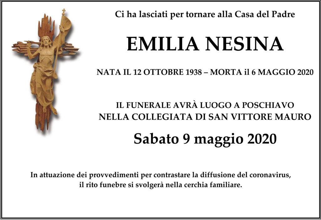 Manifesto funebre di Emilia Nesina